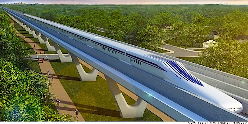 Floating mag-lev high speed rail could whisk you from D.C. to N.Y. in an hour