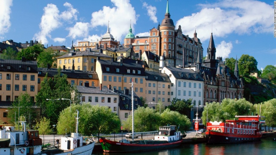 Sodermalm waterfront, Stockholm, Sweden, Scandinavia, Europe