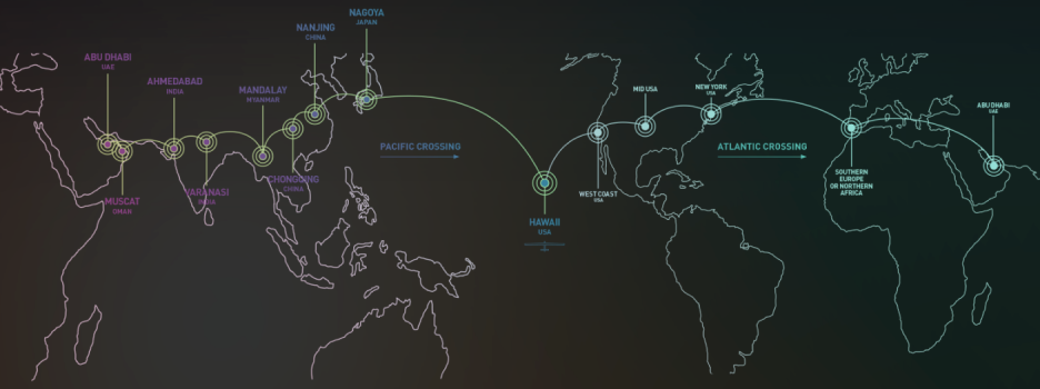 The Route of Solar Impulse